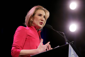 Carly Fiorina speaks during the Freedom Summit, Saturday, Jan. 24, 2015, in Des Moines, Iowa. (AP Photo/Charlie Neibergall)
